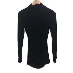 WHBM Black Turtleneck Long Sleeve Shirt Top